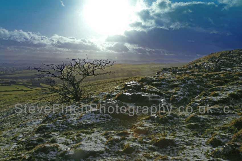 a little snow in the Yorkshire Dales