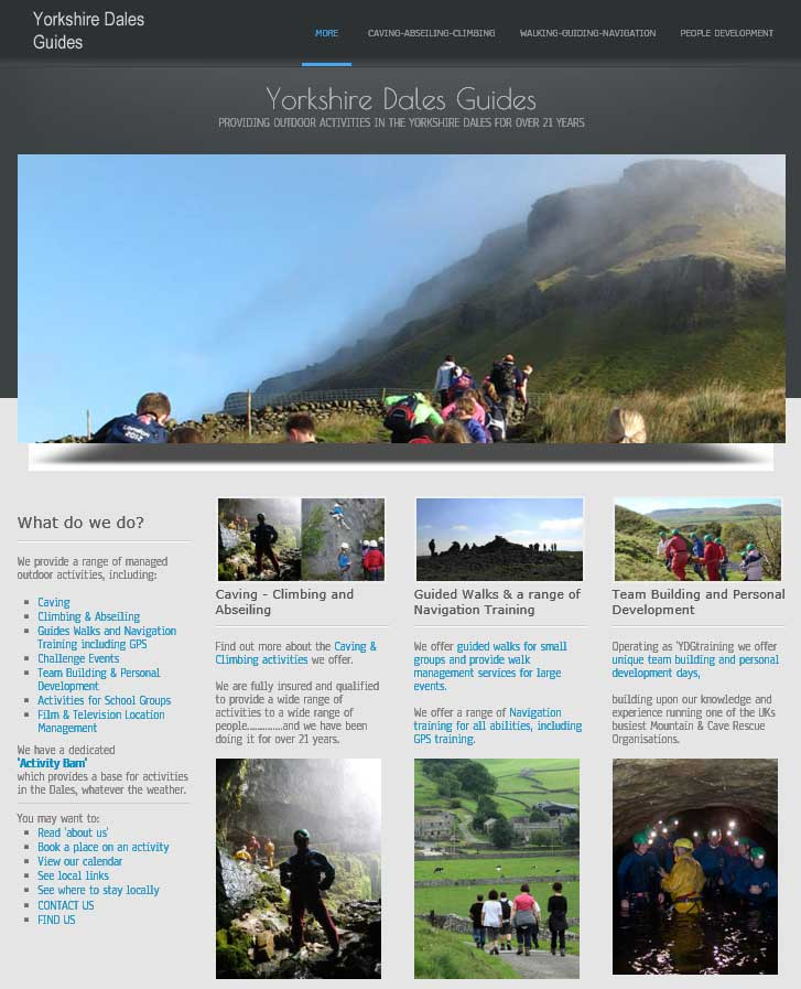 new website for yorkshire dales guides